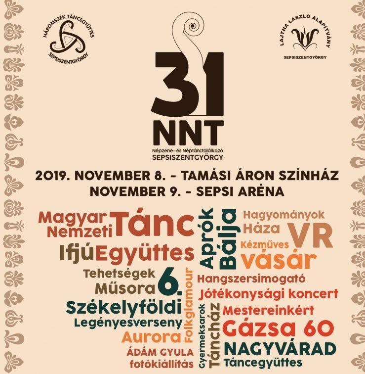 31. NNT – Népzene- és Néptántalálkozó Sepsiszentgyörgyön